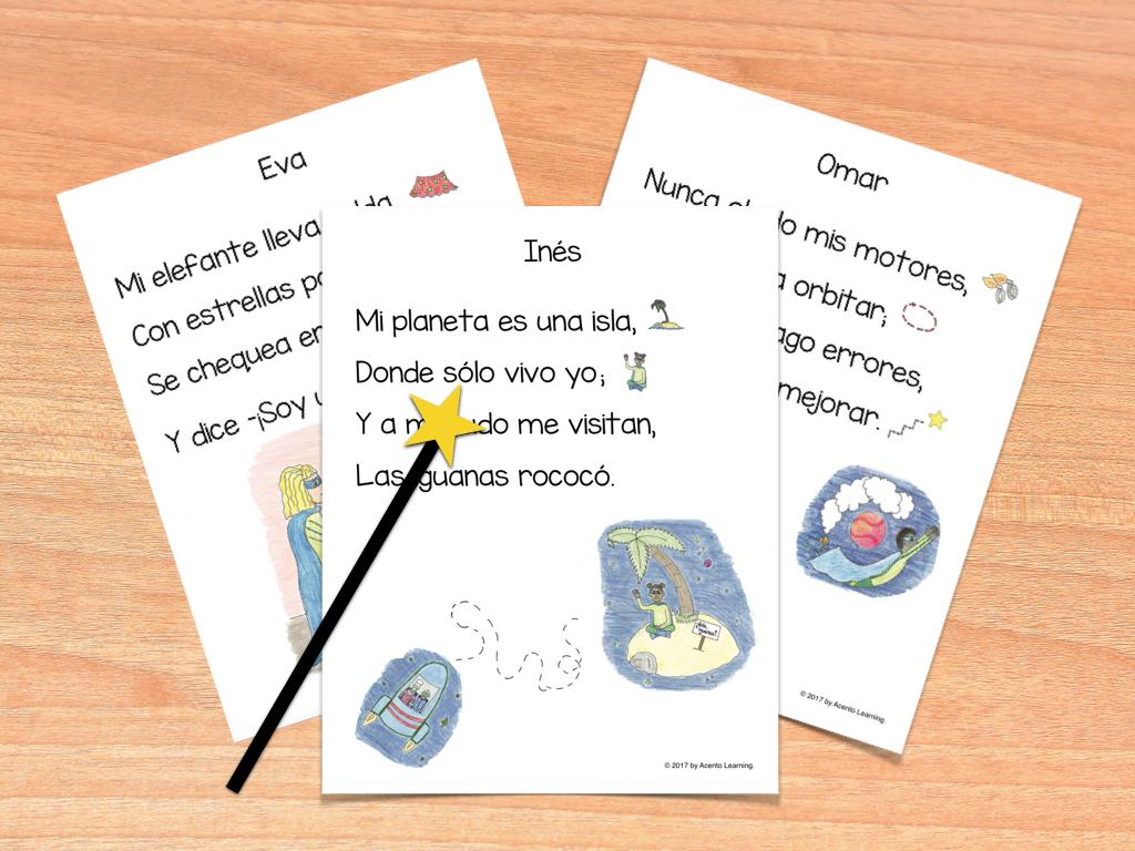 Poesia De Las Vocales: Acento Learning